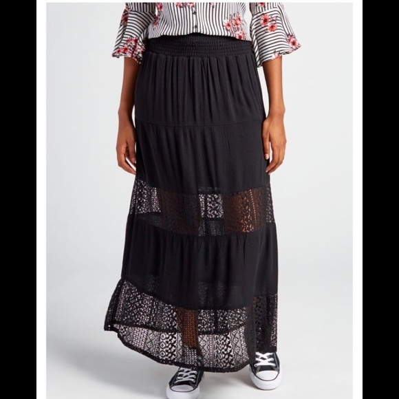 Joe Benbasset Dresses & Skirts - 🎉 Joe Benbasset Tiered Lace Maxi Skirt🎉